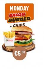 Monday Bacon Burger & Chips Special